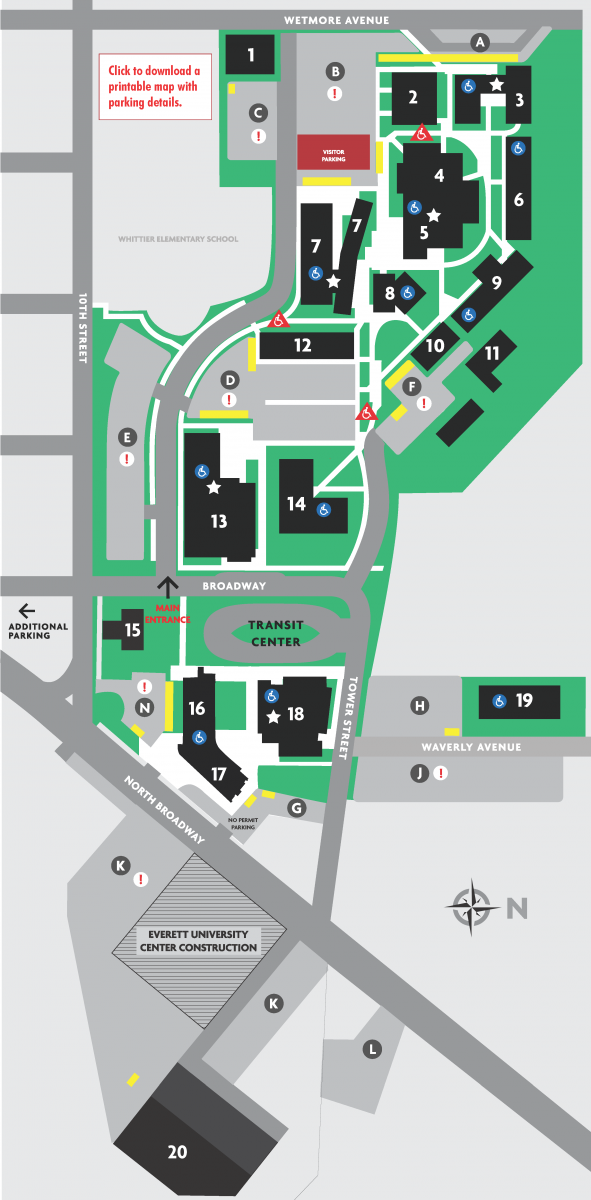 Evcc Campus Map | World Map 07