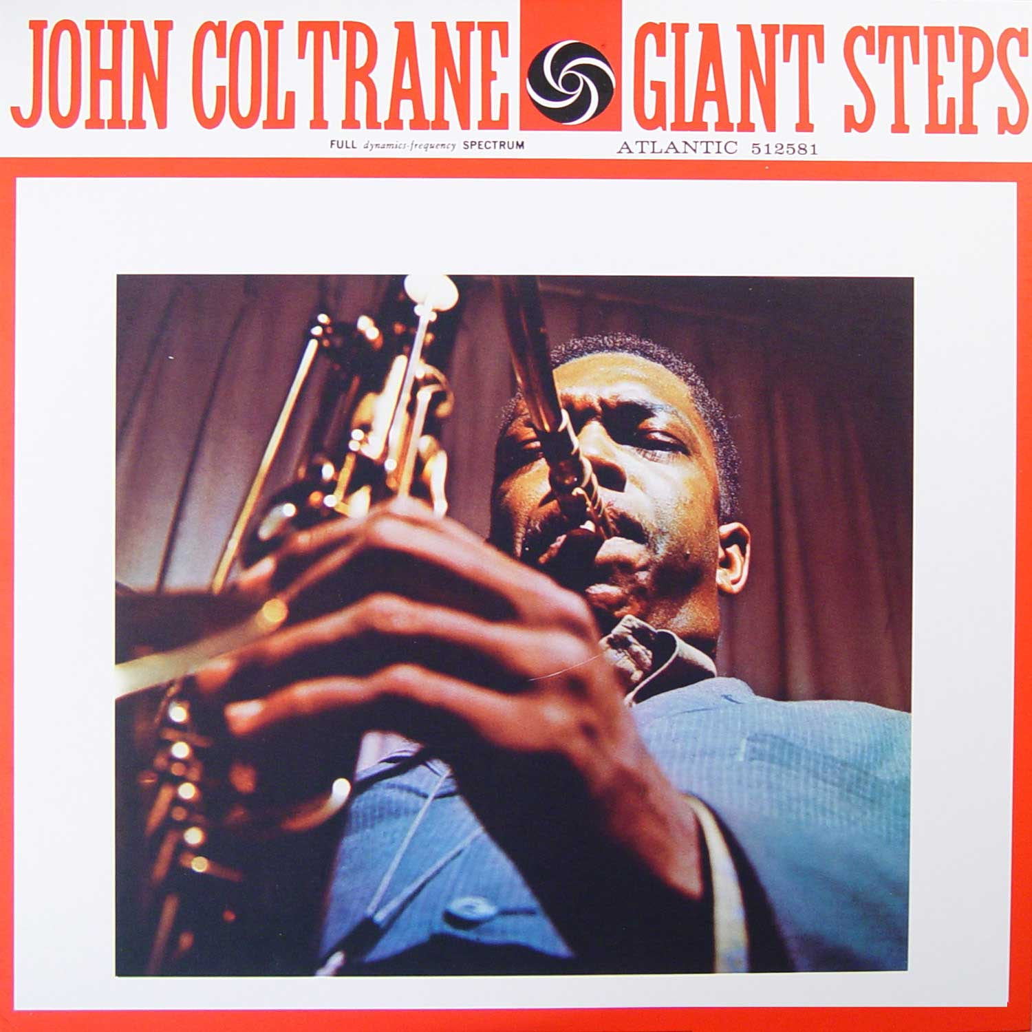The cover of Giant Steps by John Coltrane.  Released January of 1960 7 years before his death from liver cancer inJuly 17 1967.  Coltrane is the grand uncle of multi-instrumentalist producer flying lotus.//Courtesy of Amazon.com