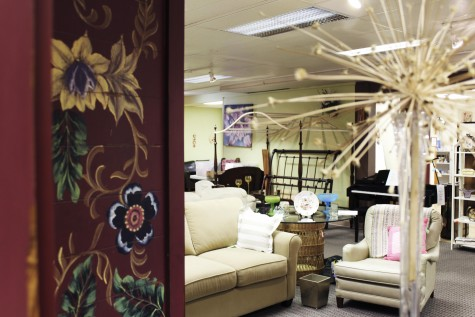 More than just clothing can be found at thrift shops. Couches, knick knacks and home goods are in abundance.