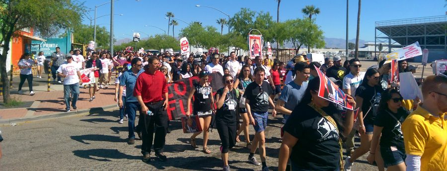 Arizona banned ethnic studies from high schools. The protest was on the March 19, where Mechistas walked in the 90-degree weather in order to protest.