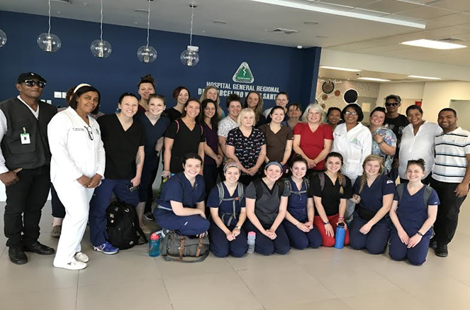 Group picture of the 2016 nursing students who went on the trip