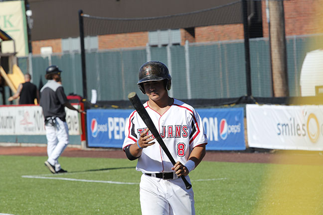 Jacob Prater waits to step up to the plate.