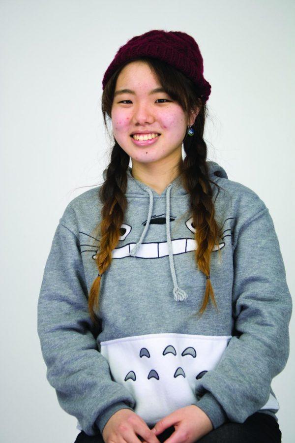 Hana Murayama, an international student from Japan.