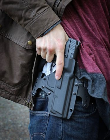 Pictured is a .40 caliber handgun, the same caliber gun used in the Marysville Pilchuck shooting.