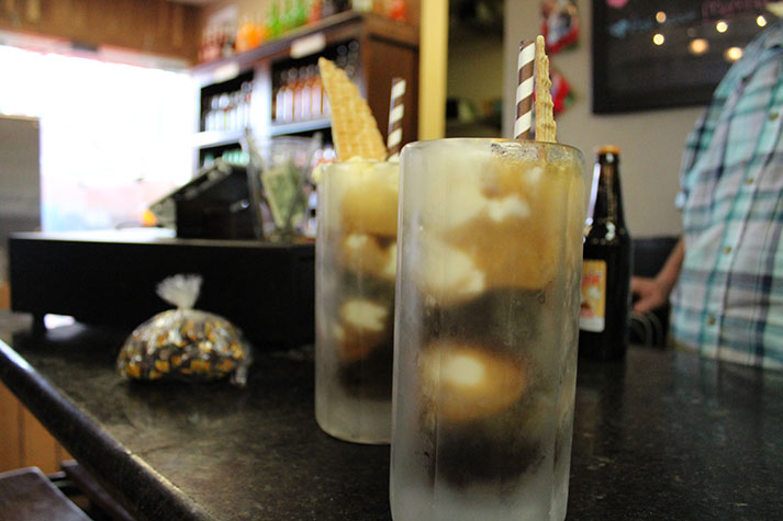 Chug's Root Beer & More offers all kinds of varieties of soda floats.