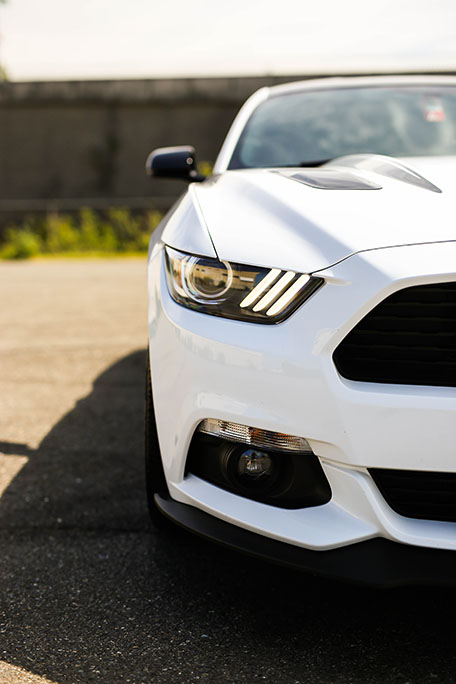 The eyes of Yeo's 2017 California Special Mustang