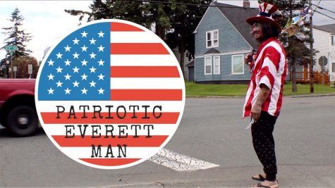 Patriotic Man in Everett, WA (Video)