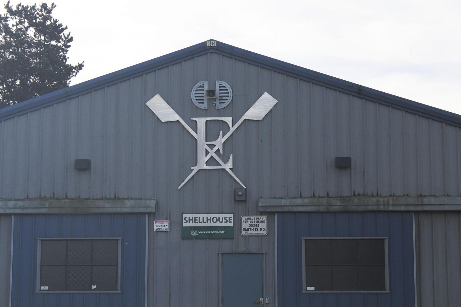 Everett Rowing Association's warehouse, located on Smith Island