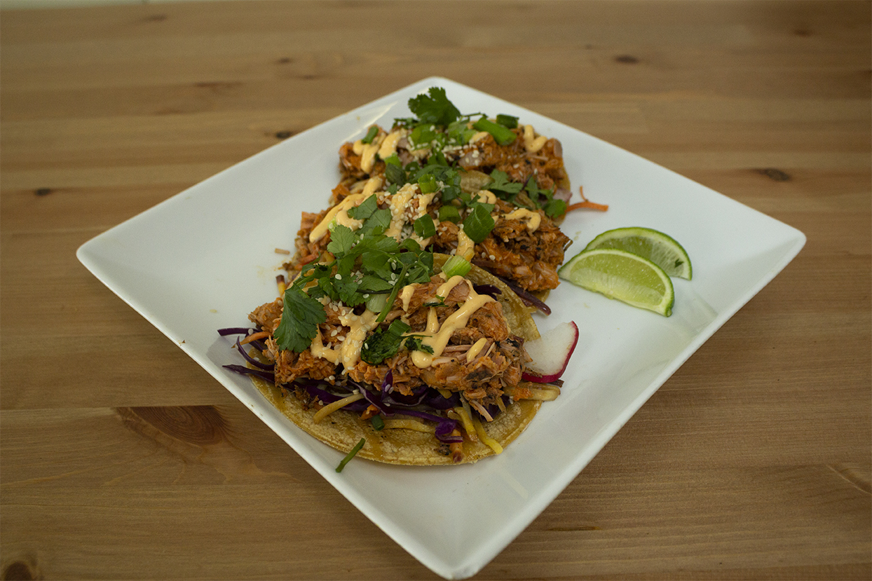Bukhan tacos at Café Wylde, located in Downtown Everett.