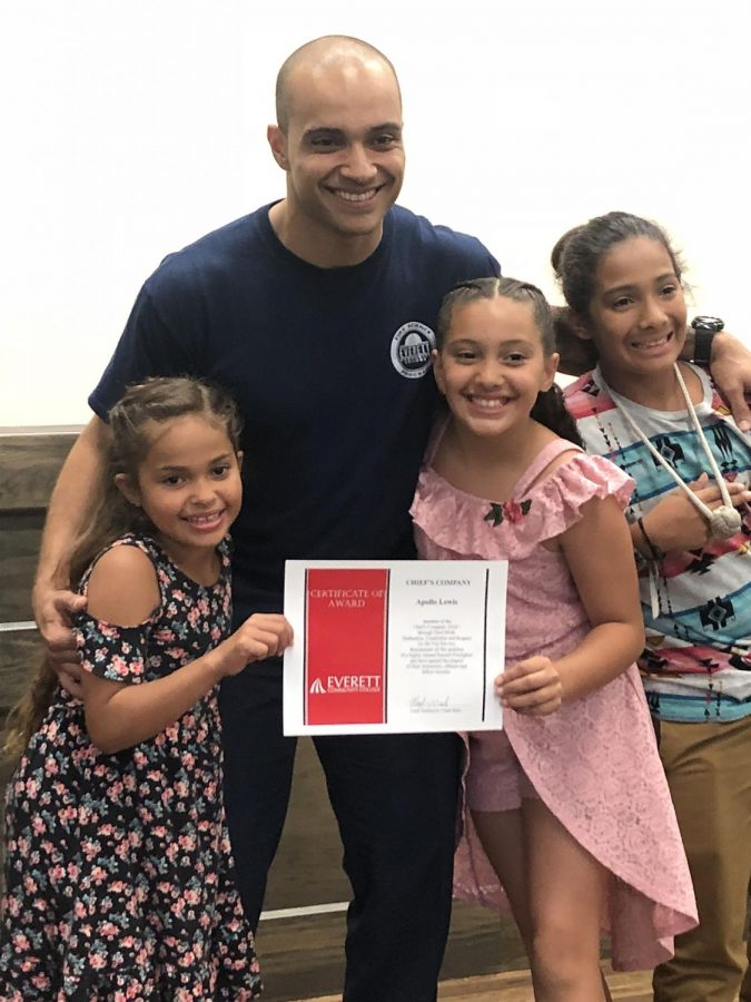 Lewis+with+his+children+at+the+EvCC+Fire+Academy%0Agraduation%2C+Summer+2018.