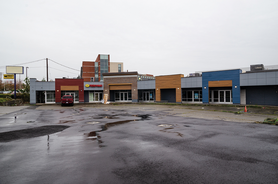 After years of being abandoned, the corner of North Broadway and Tower St. is finally getting a makeover. New restaurants currently announced are Sunny Teriyaki and Umami, with several units still available for lease.