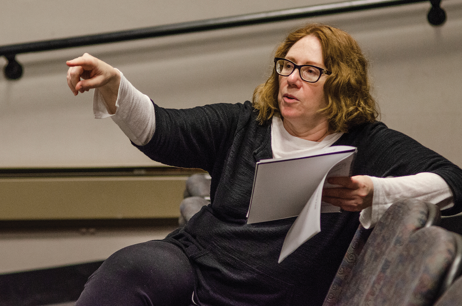 Instructor Beth Peterson has run the school's drama department for the past nine years. She will soon tour the country, researching other programs, with the goal of coming back and implementing a fiscally sound and well-structured new program to complement the school's new black box theatre, expected in 2023.