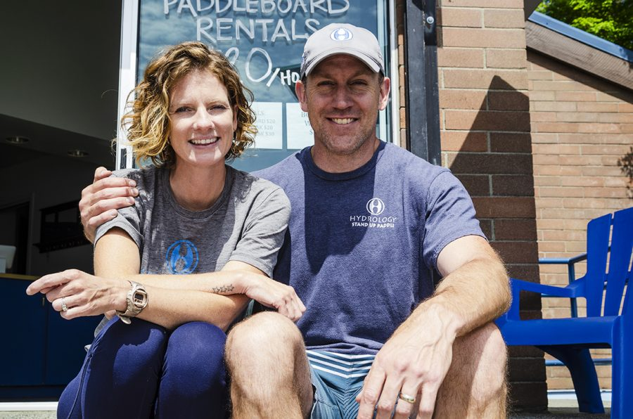 Husband and wife, and Hydrology co-owners, Erin and Dave Matthews.