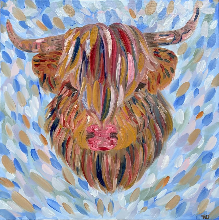 %22Colorful+Highland+Cow%2C+an+oil+painting+I+produced+for+my+mom.+One+of+my+most+successful+pieces.%22