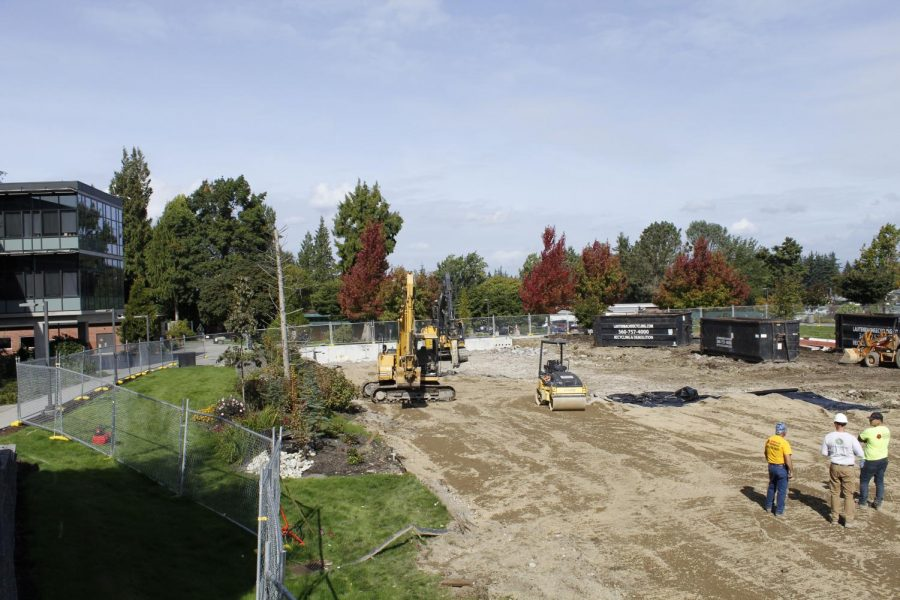 Current construction to bring more green space to EvCC.