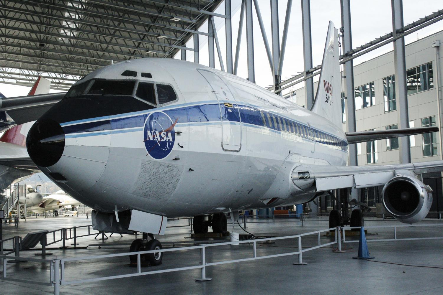 The prototype 737 sits on static display at The Museum Of Flight  located in Tukwila Washington at the south end of King County International Airport. Since it's first flight back in 1967, the 737 has been Boeing's most-sold airplane in the company's commercial sector.