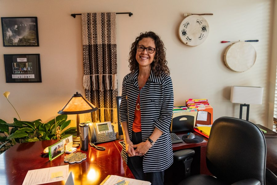 Maria Peña, Chief Diversity & Equity Officer, in her office. She says of Ambar Martinez,