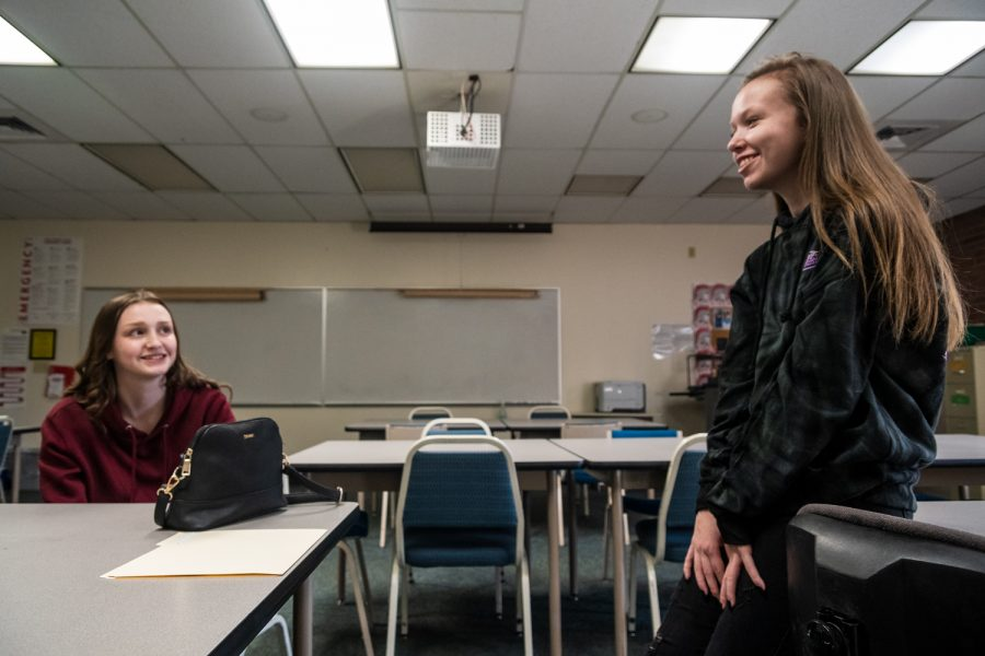 Olivia Denson and Carleigh Stratton are two EvCC students currently enrolled in the U3 program.