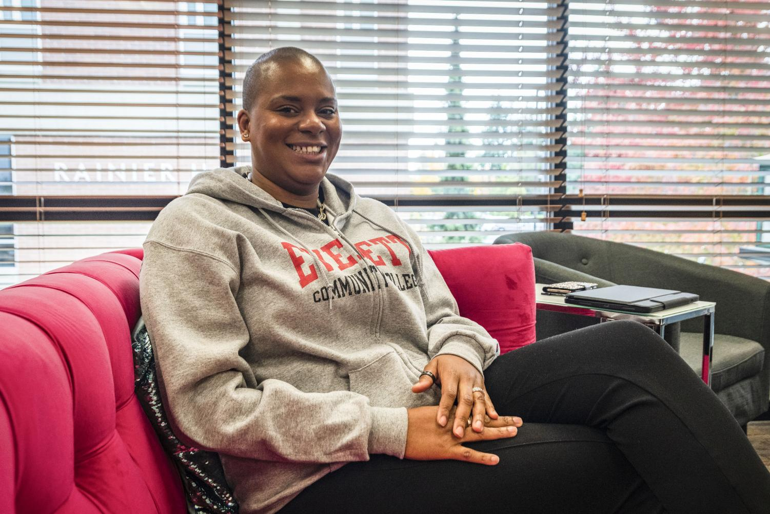 President Daria Willis, in her office located in Olympus Hall, shares her vision for the college. Willis says she wants to shift the college to implementing a shared governance model.
