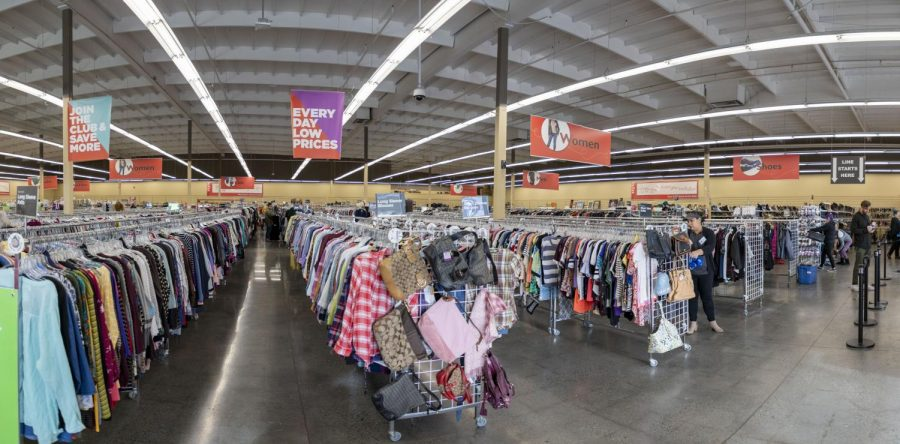 The interior of Value Village thrift store located in Lynwood off of State Route 99.