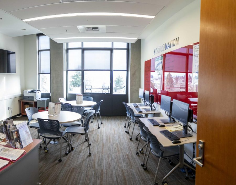 The EvCC Job Center, located in Grey Wolf Hall room 365, offers professional career resources and advice.