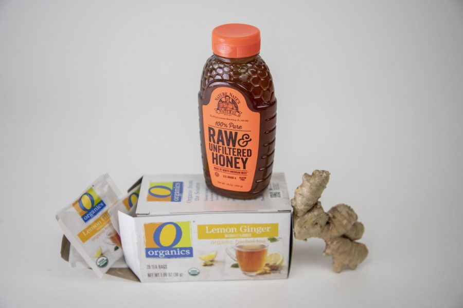 Ginger, honey, and tea are all ingredients often used to combat flu symptoms.
