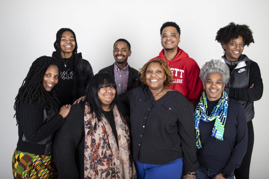 Members of the Black Student Union (BSU) pose together. The BSU meets Thursdays from 2:30 p.m. to 3:30 p.m.