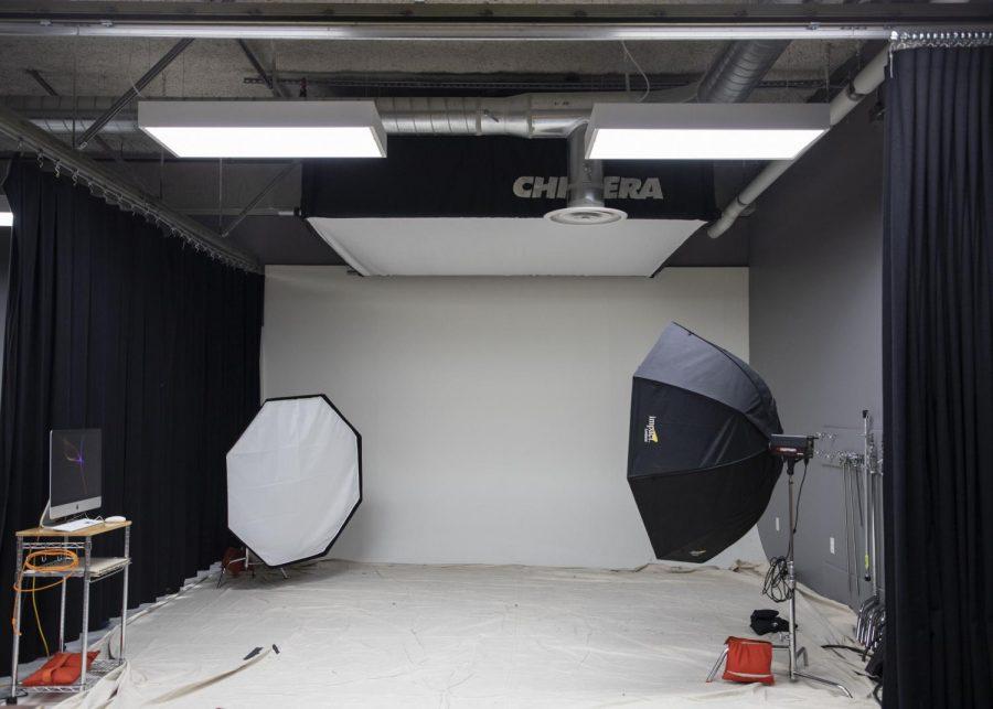 Studio equipment in White Horse Hall photo studio.