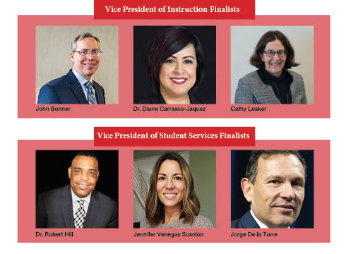Finalists for EvCC's Vice President of Student Services (VPSS) and the Vice President of Instructions (VPI).