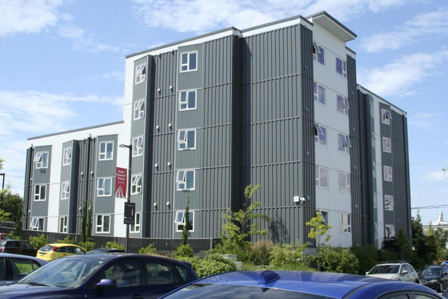 The Mountain View Hall dorms, where many of EvCC's international students are living.