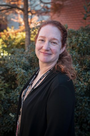 Katherine Schiffner, EvCC's Director of Public Relations, photographed on campus in Nov. 2019.