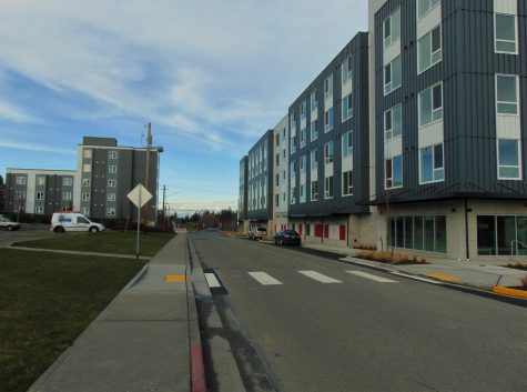 KoZ on Broadway (right) Mountain View Dorms (Left).