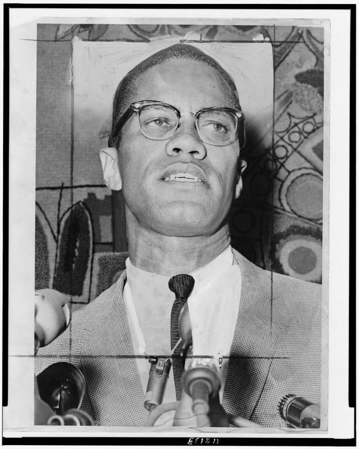 Malcolm X during at interview for civil rights on Jan. 1, 1964.