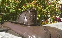 The Gary Parks firefighter memorial near EvCC's Parks Student Union building.